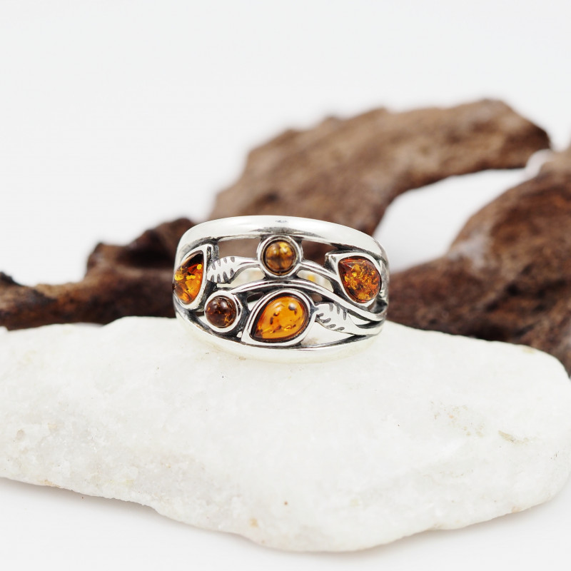 Baltic Amber Sale,Silver Ring  , direct from Poland  AM 851