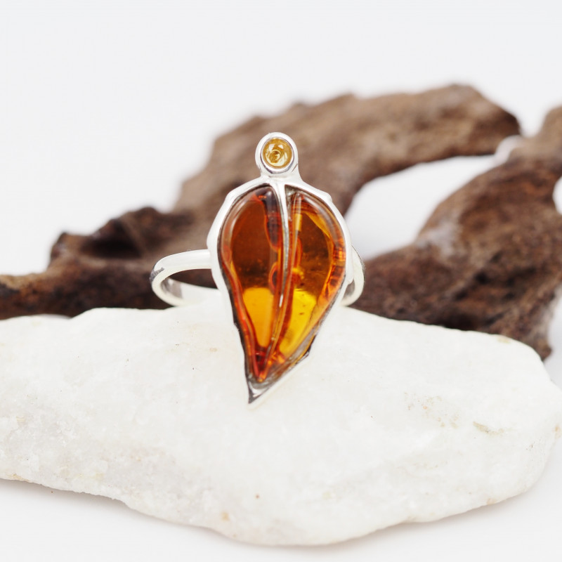 Baltic Amber Sale,Silver Ring  , direct from Poland  AM 854