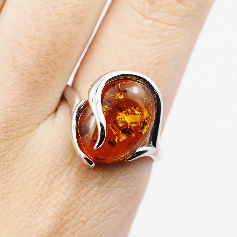 Baltic Amber Sale,Silver Ring  , direct from Poland  AM 856