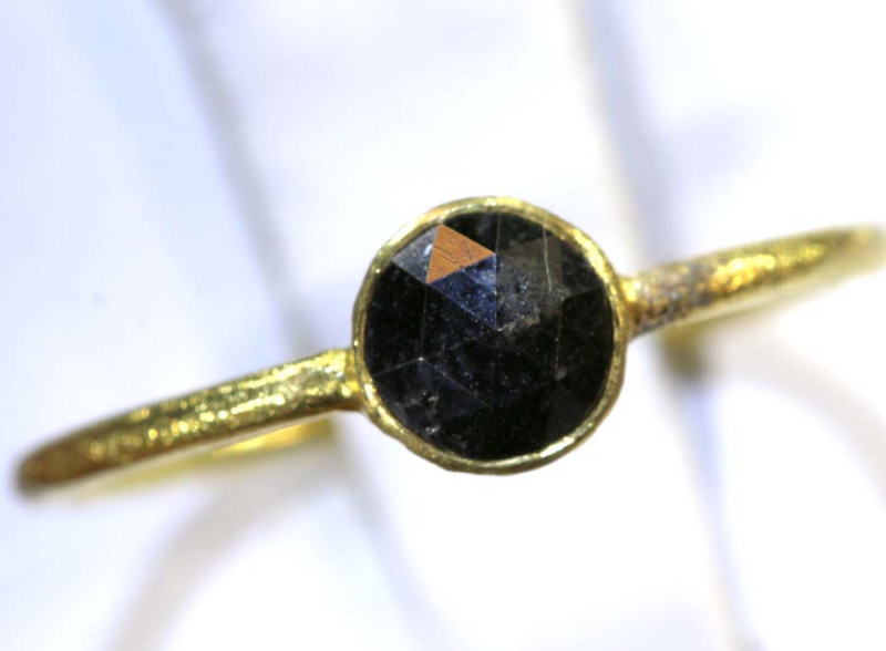 5.8 CTS BLACK DIAMOND RING ROSE CUT  SG-417