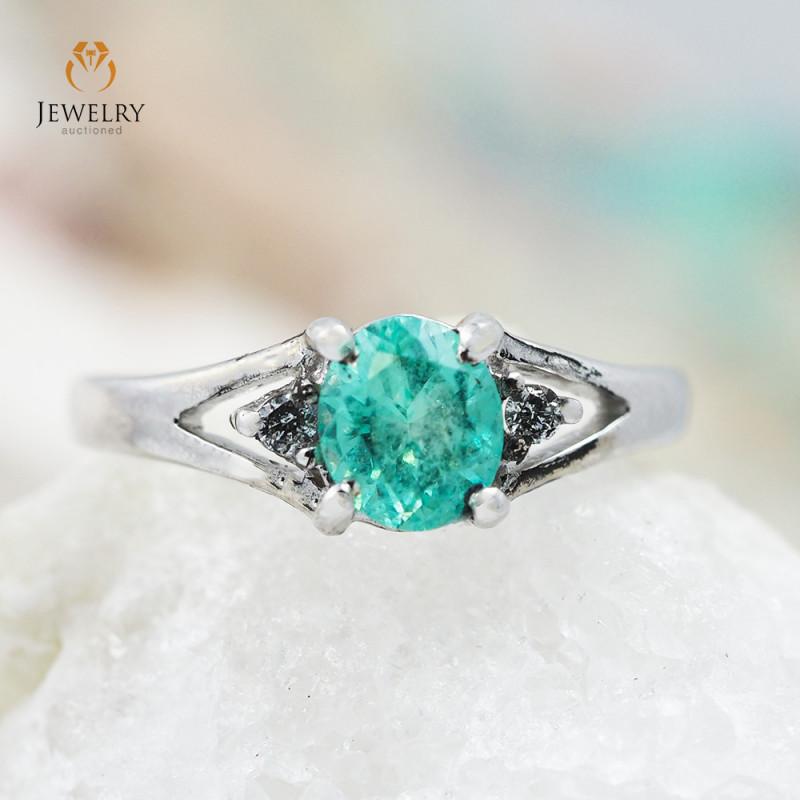 EMERALD AUSTRALIA 18K White Gold & Diamonds Ring - REV1A