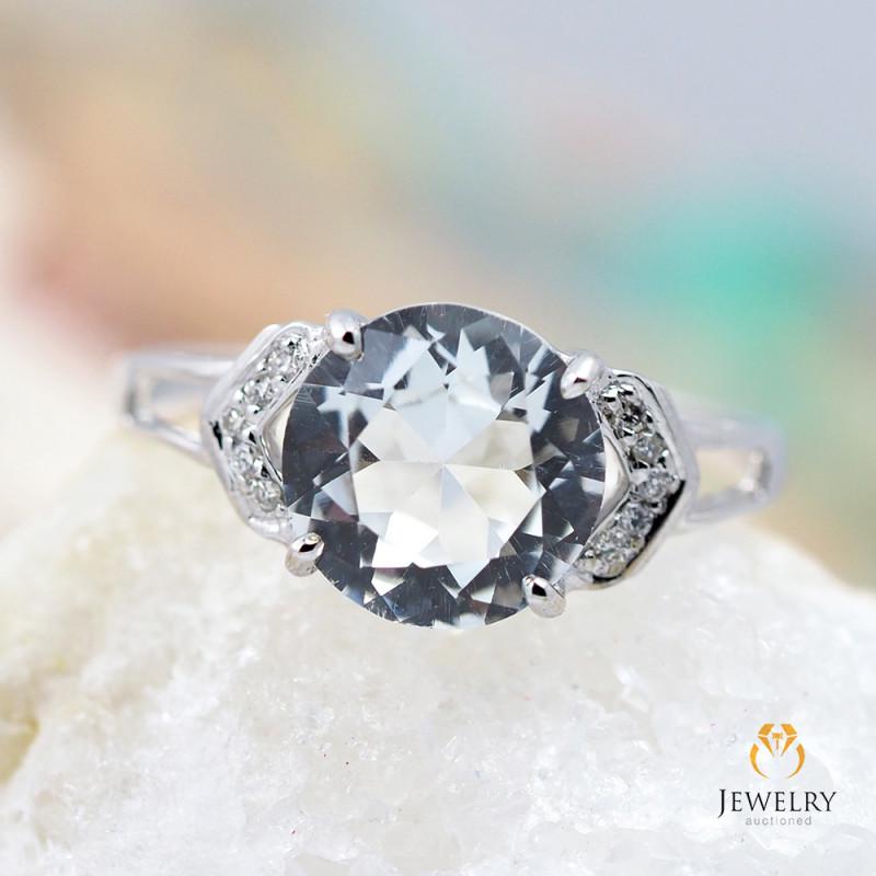 TOPAZ AUSTRALIA 18K White Gold & Diamonds Ring - RTV