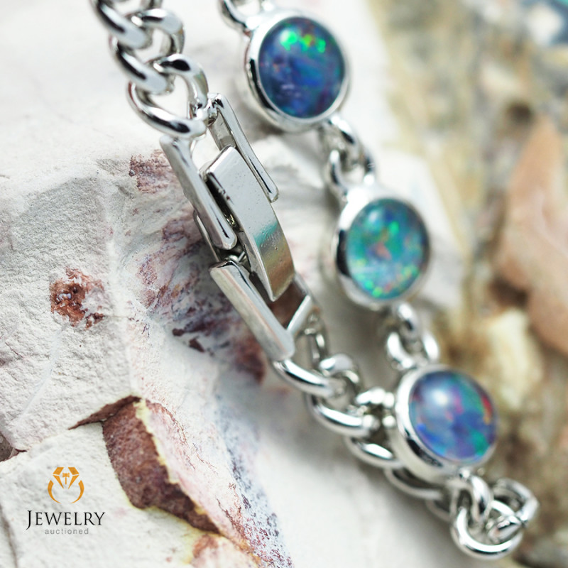 Modern Design 10pc  Opal Triplet Bracelet AM 871