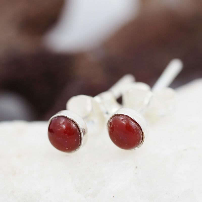 Cute  Small Carnelium Earrings AMB 869