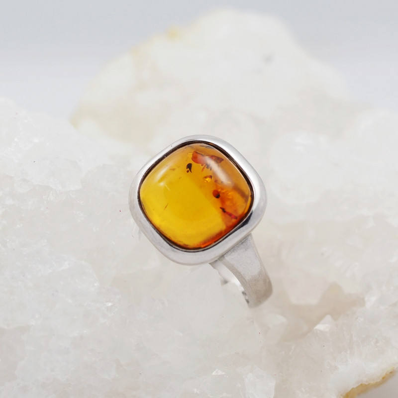 Baltic Amber Sale,Silver Ring  , direct from Poland  AM 877