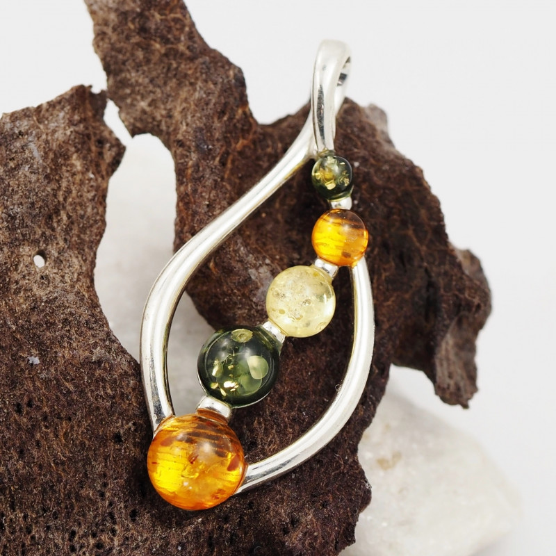 Baltic Amber Sale, Silver Pendant  , direct from Poland  AM 895