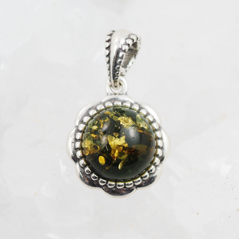 Baltic Amber Sale, Silver Pendant  , direct from Poland  AM 897