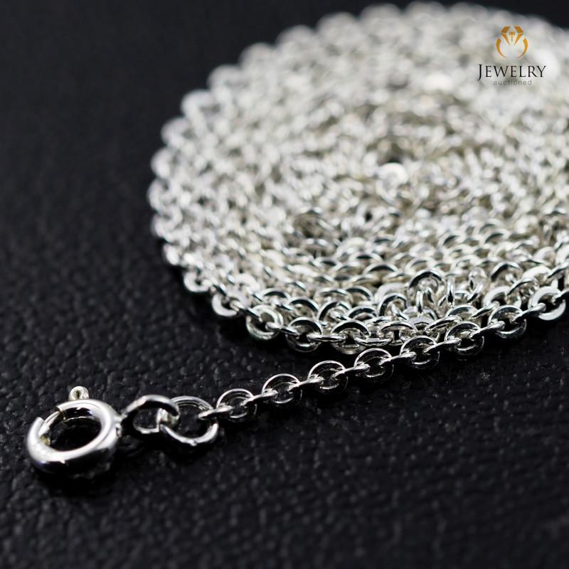 30 Inch, 75 cm 1.2 x 1.2    mm Long Curb  Silver chain . AM 1000