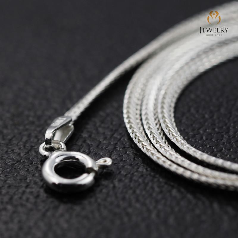 16 Inch, 40 cm 2.0 x .7   mm Flat Snake  Silver chain . AM 1018