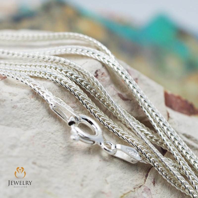 16 Inch, 40 cm 2.0 x .7   mm Flat Snake  Silver chain . AM 1019