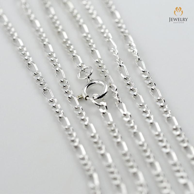 20Inch, 50 cm 1.0 x.92  mm Curb  Silver chain . AM 1052