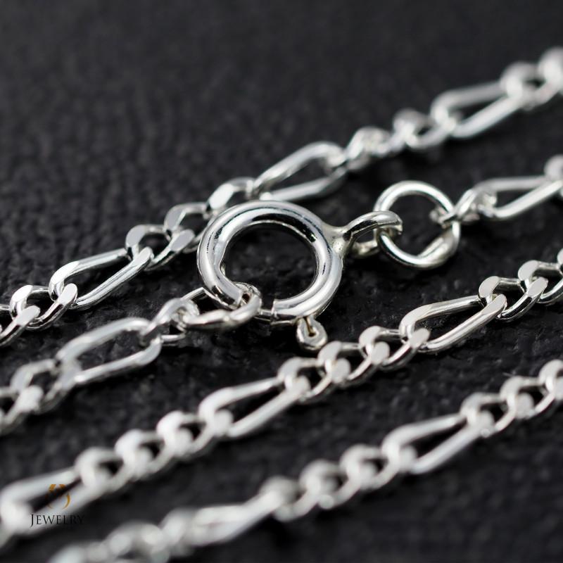 20Inch, 50 cm 1.0 x.92  mm Curb  Silver chain . AM 1063