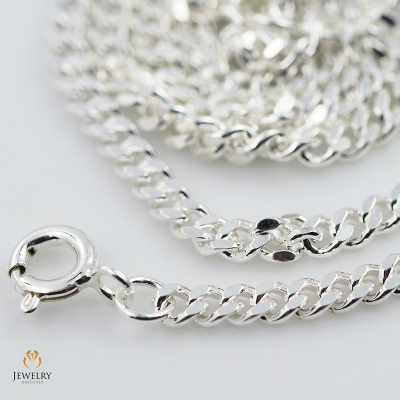 18Inch, 46 cm 2.9 x 1.3  mm  Cable Silver chain . AM 1066