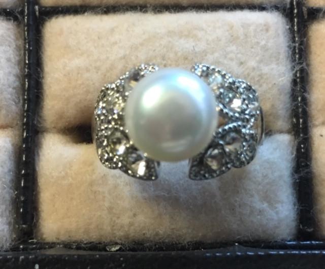 Natural fresh water Pearl Ring  AM 1082