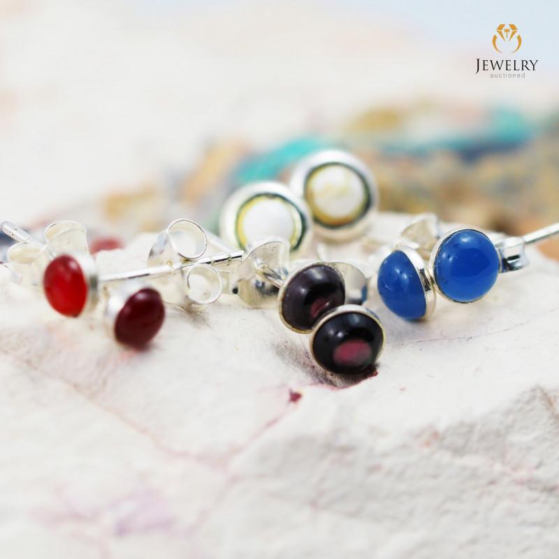 Trade deal 4 pairs Gemstone  Earrings AMB 1095