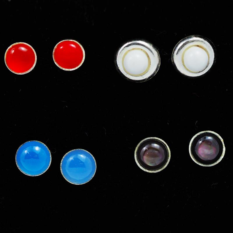 Trade deal 4 pairs Gemstone  Earrings AMB 1096