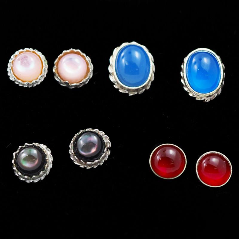 Trade deal 4 pairs Gemstone  Earrings AMB 1107