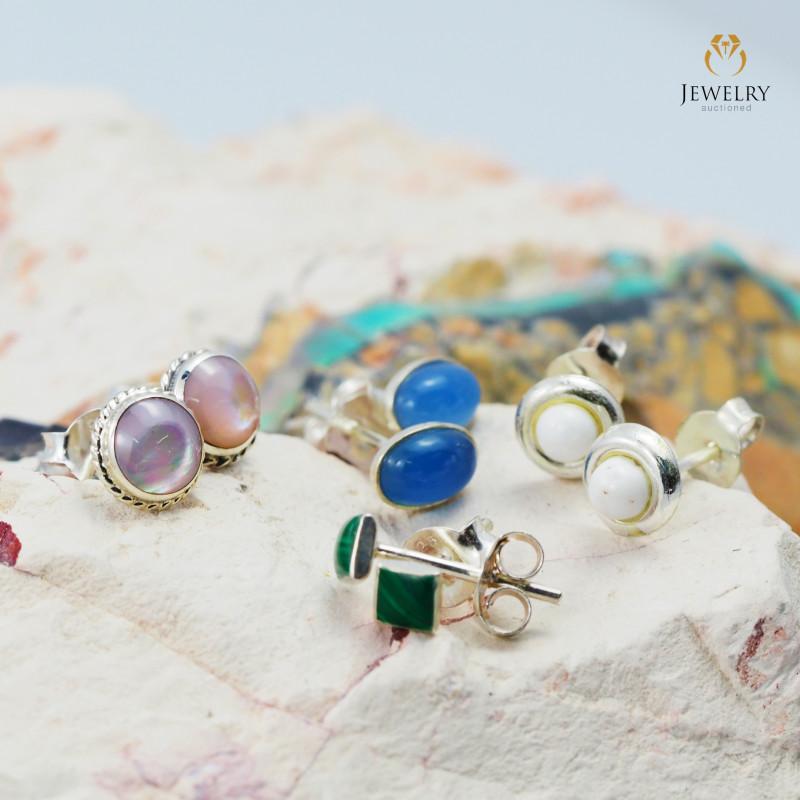 Trade deal 4 pairs Gemstone  Earrings AMB 1111