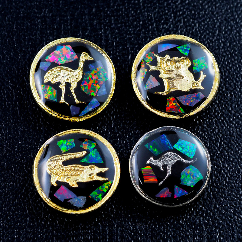 Set 4 Opal Fridge Magnets or golf markers  am 1114