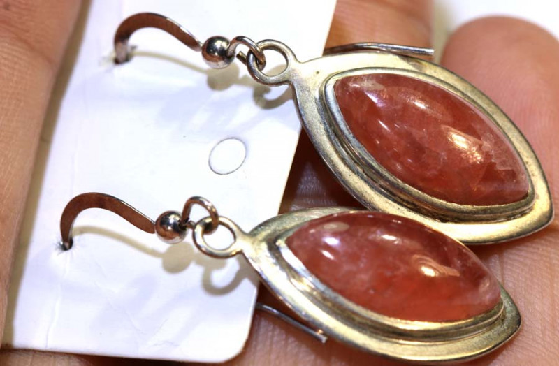28.6 CTS WONDERFUL RHODOCHROSITE EARRINGS SG-2367