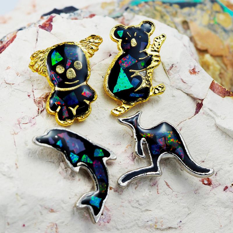 Set 4 Australian Animal  Opal Fridge Magnets  AM  1135