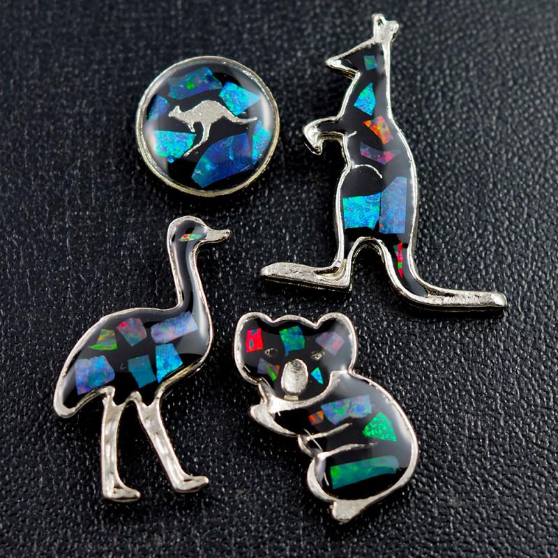 Set 4 Australian Animal  Opal Fridge Magnets  AM  1144