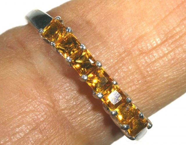 8.75 CTS CITRINE SILVER RING SG-2457
