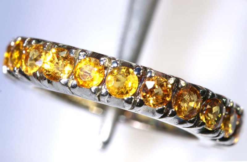 20.85 CTS CITRINE SILVER RING SG-2466