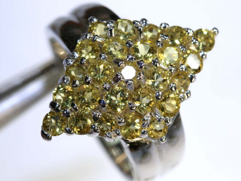 27CTS CITRINE SILVER RING SG-2558