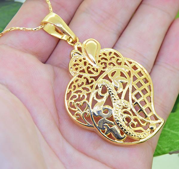 Large Ornate Gold-Filled Pendant