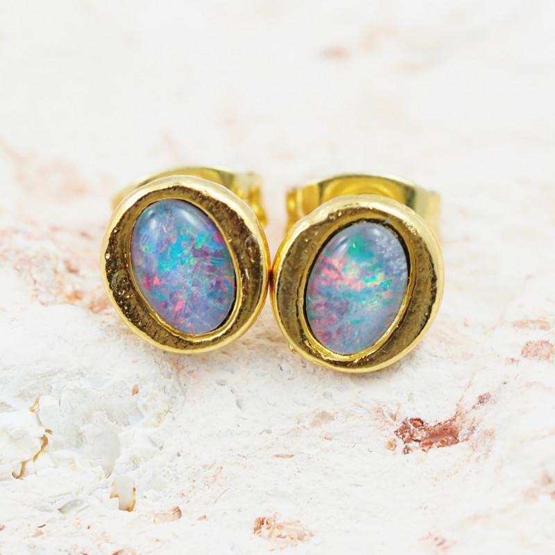 Australian Opal triplet Earrings OPJ2409