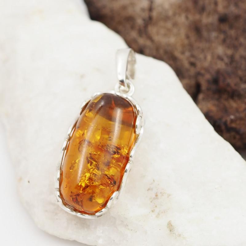 Baltic Amber Sale, Silver Pendant   AM1270