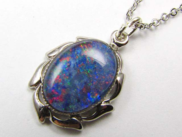 Large Australian Triplet  opal in Silver  Pendant GOA 141