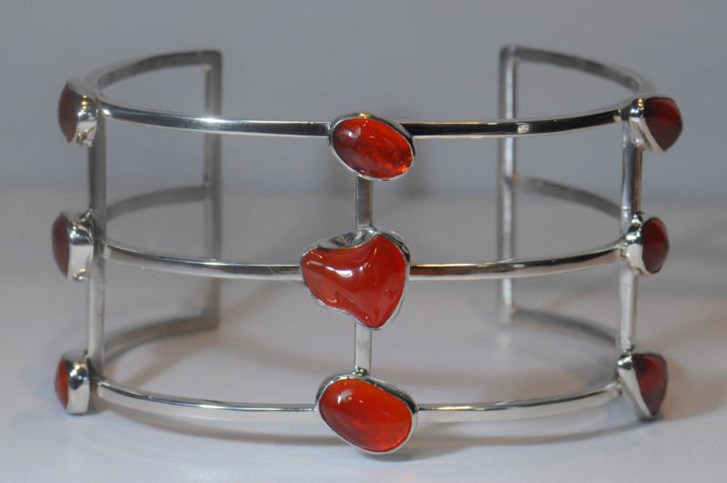Mexican Water  Opal Sterling Bracelet