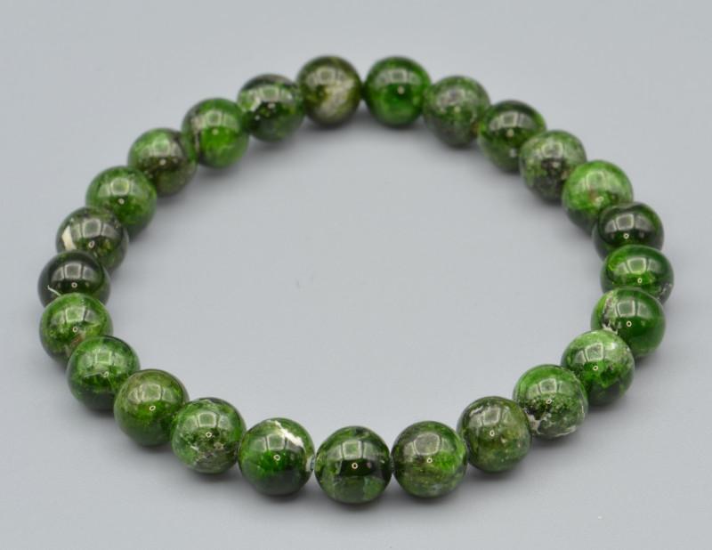 Natural Green Garnets Beads Bracelet