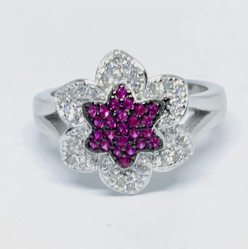 22.50 Crt Cubic Zircon 925 Silver Ring
