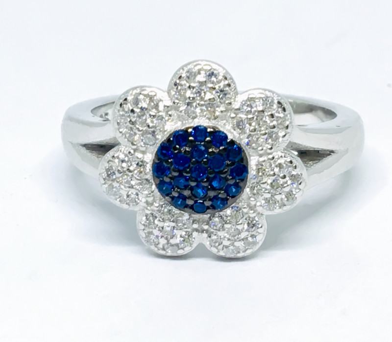 23.35 Crt Cubic Zircon 925 Silver Ring