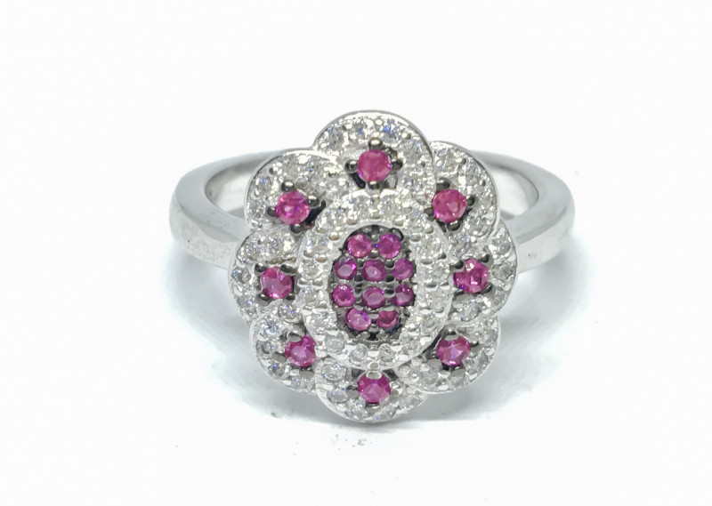22.75 Crt Cubic Zircon 925 Silver Ring
