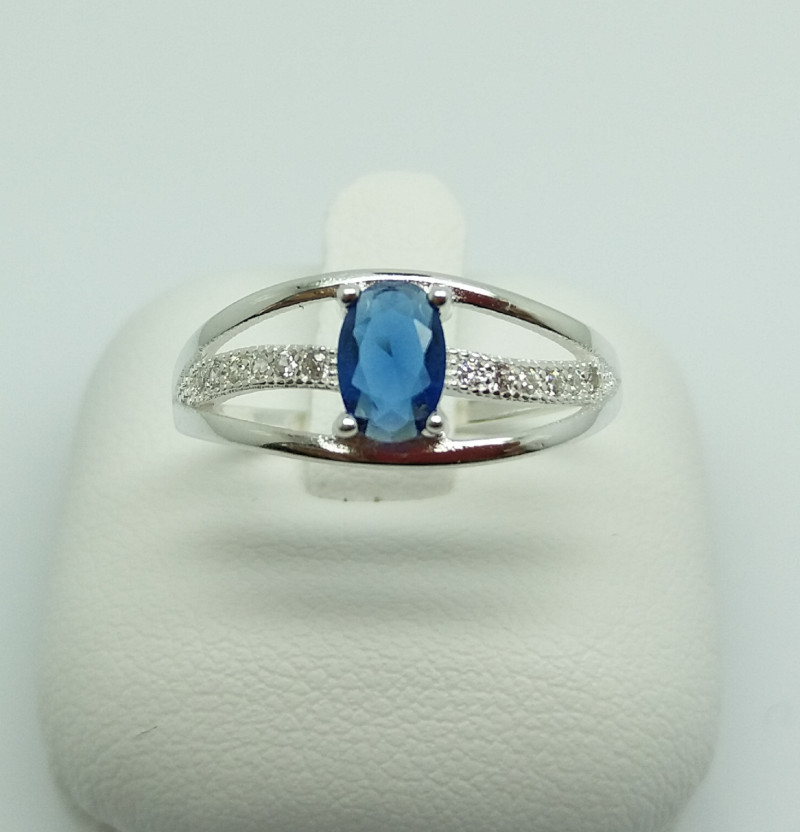 NATURAL 925 RINGS WITH TOP CLASS CUBIC ZIRCONIA F#50