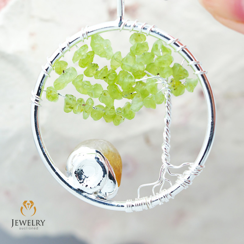 Earthly Tree Of Life,wire wrap  Pendant BR 103