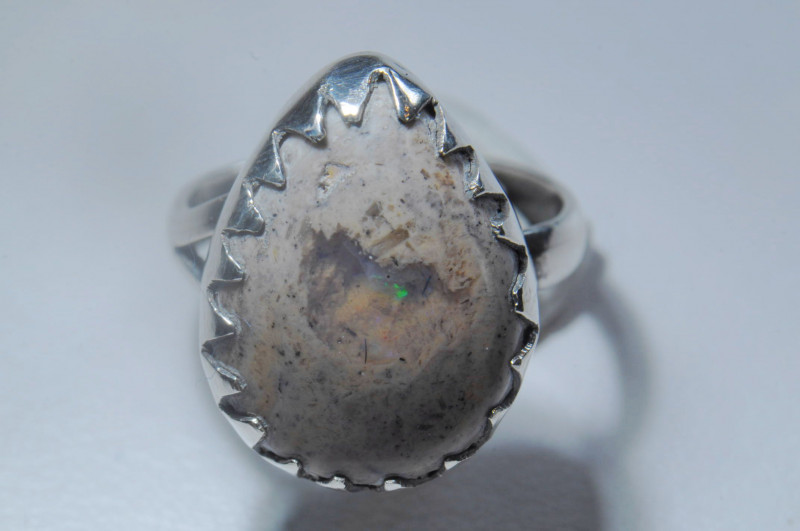 5.2sz Mexican Opal Sterling Silver Ring