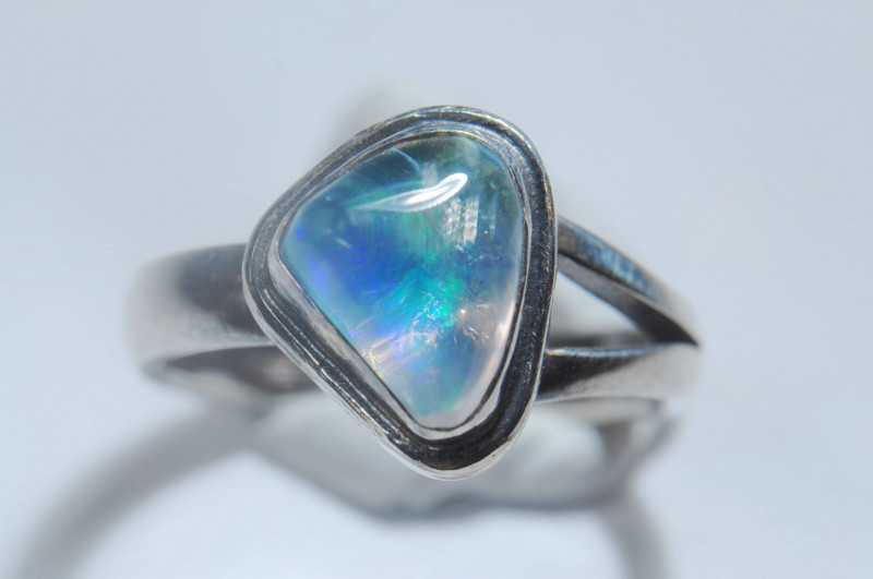 5.2SZ BRILLIANT WELO OPAL STERLING RING