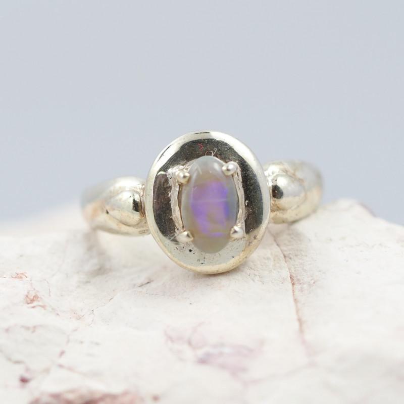 Australian solid Opal Silver Ring  OPJ 2274