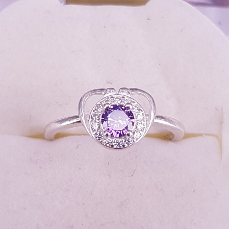 Natural Zircons Ring.
