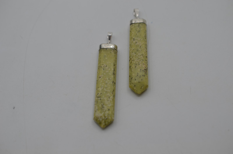117.95 Ct Of Natural Calcite Pendent with silver