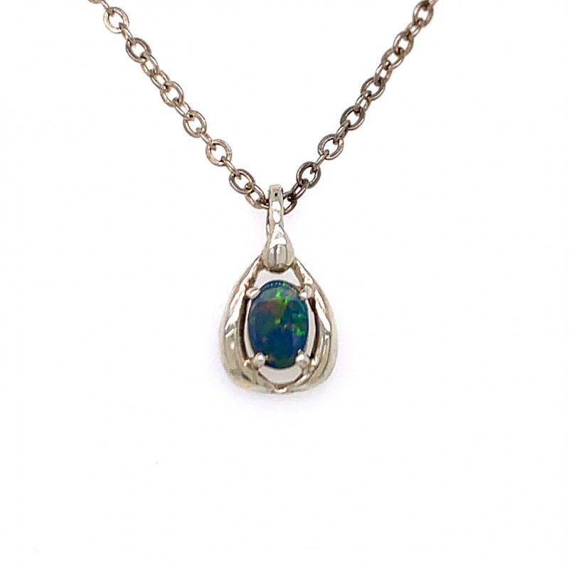Australian  Opal Silver Pendant OPJ 2366
