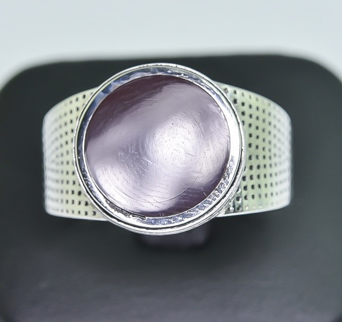 32.43 Crt Natural Red Agate 925 Silver Ring