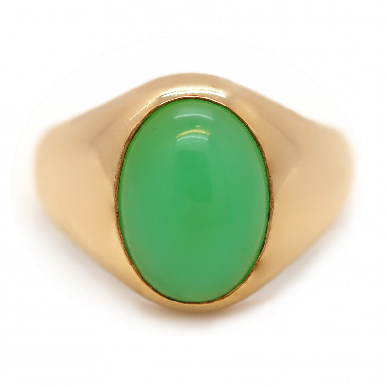 9K Gold Australian Chrysoprase Ring [JR01]