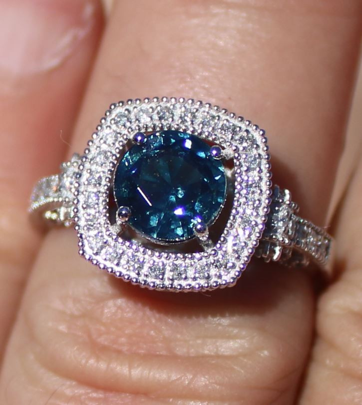 Certified Blue Sapphire 2.05ct Diamonds Solid 950 Platinum Ring