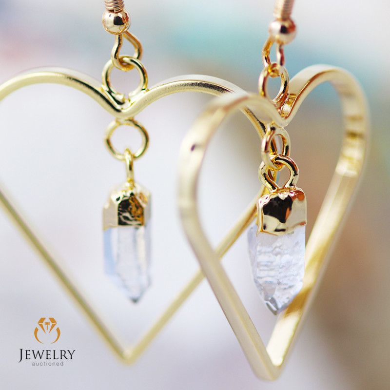 Terminated beautiful Crystal Heart shape earrings BR 254